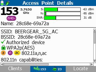 Протокол Тестер беспроводных сетей Wi-Fi, Fluke AirCheck Wi-Fi Tester NETSCOUT AIRCHECK