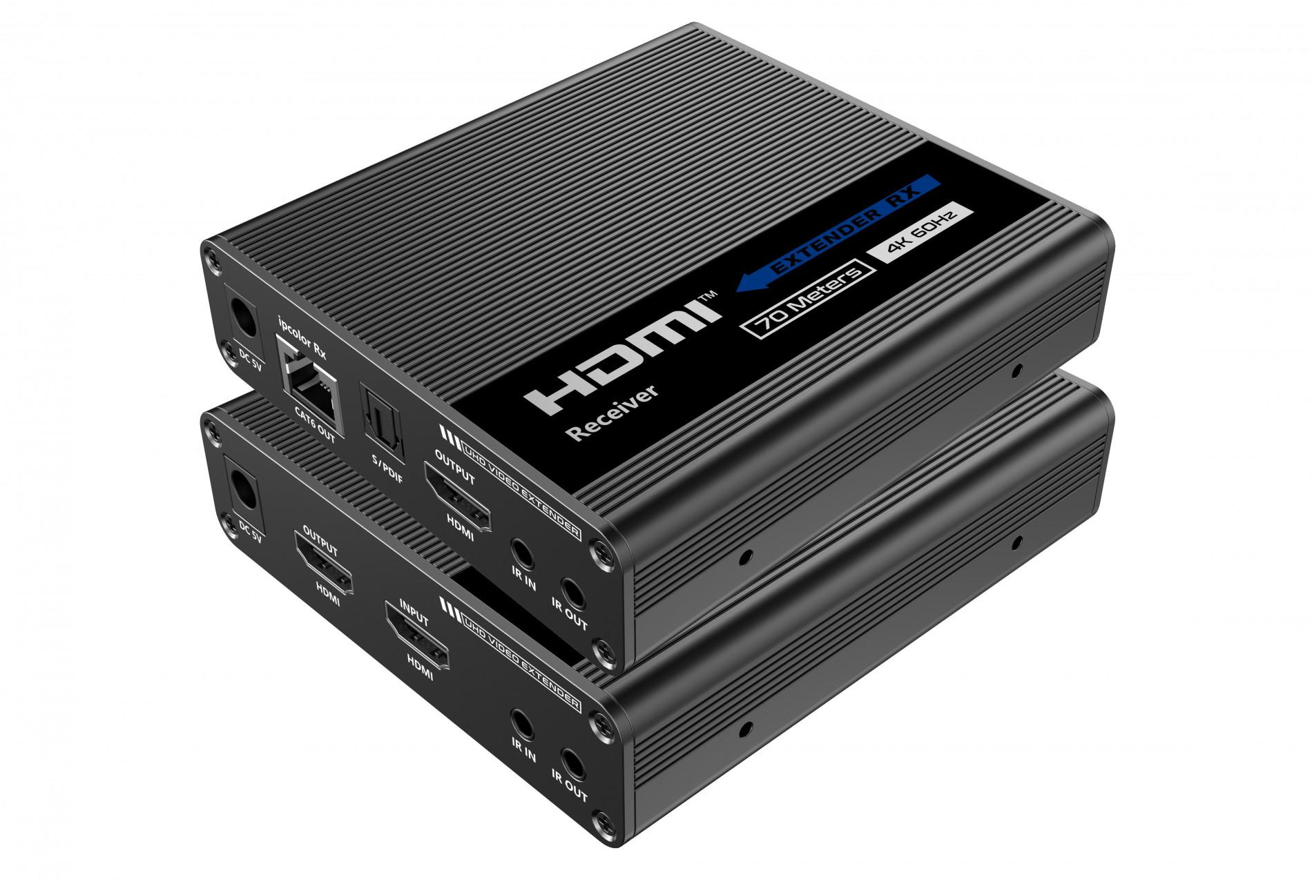 Новый удлинитель HDMI 2.0 (4К@60Гц) по витой паре с функцией каскадного подключения приёмников
