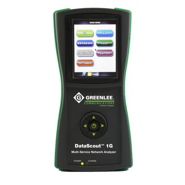 Greenlee Datascout 1G - анализатор 1G Ethernet, E1/E3, WiFi, IPTV, VoIP, Datacom