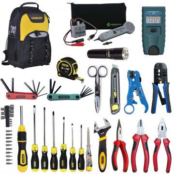 SK-LAN-2 - набор инструментов для обслуживания кабельных линий связи и Ethernet в рюкзаке