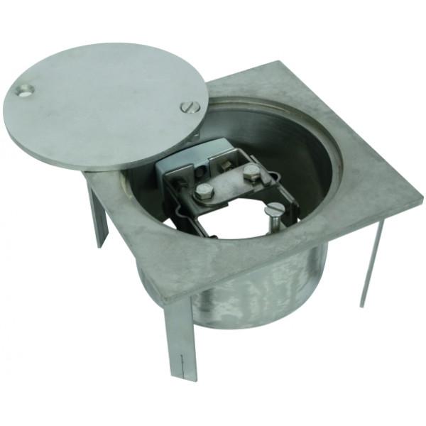DEHN 549 090 Смотровой колодец (NIRO) для подземного монтажа тип UF, с разделительной клеммой 200x200x105 мм