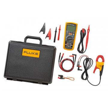 Fluke 1587/i400 FC - комплект из мультиметра-мегаомметра Fluke 1587 FC и токоизмерительных клещей i400 с зажимами для адаптера