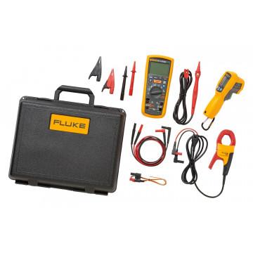 Fluke 1587KIT/62MAX+ FC - комплект из мультиметра-мегаомметра Fluke 1587 FC, инфракрасного термометра 62 MAX+ и токоизмерительных клещей i400