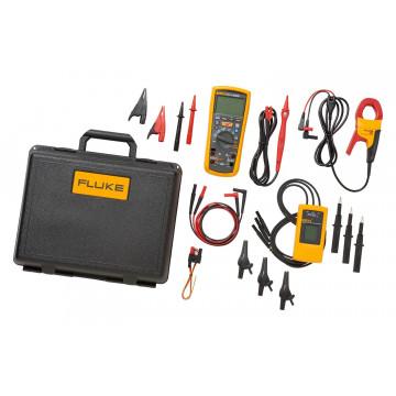 Fluke 1587/MDT FC - комплект из мультиметра-мегаомметра Fluke 1587 FC, индикатора чередования фаз 9040 и токоизмерительных клещей i400