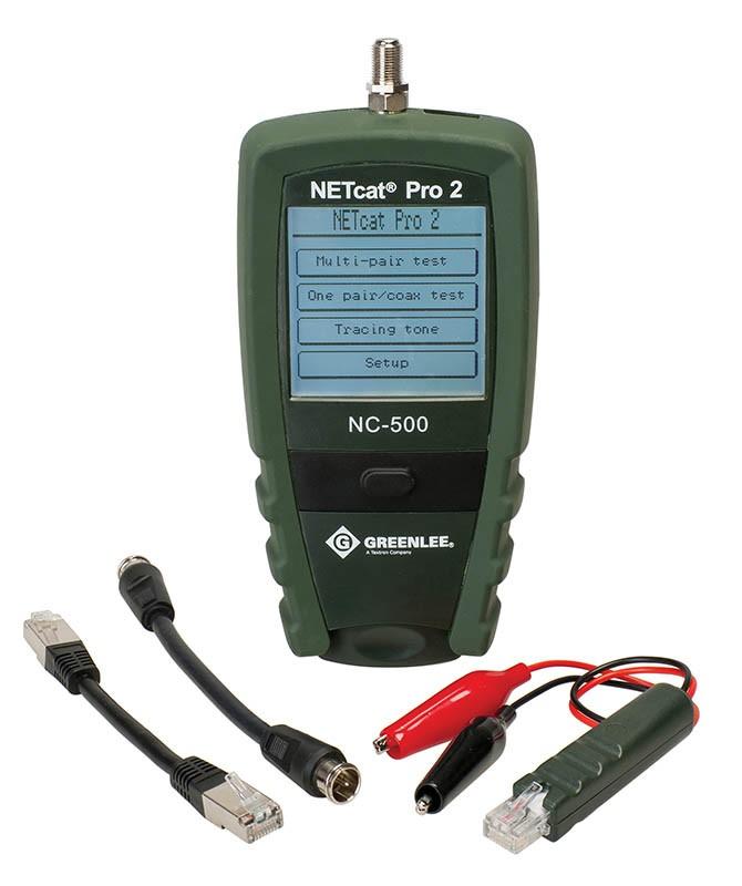 Диагностика и локализация повреждений витой пары с помощью кабельного тестера Greenlee NetCat Pro NC-500