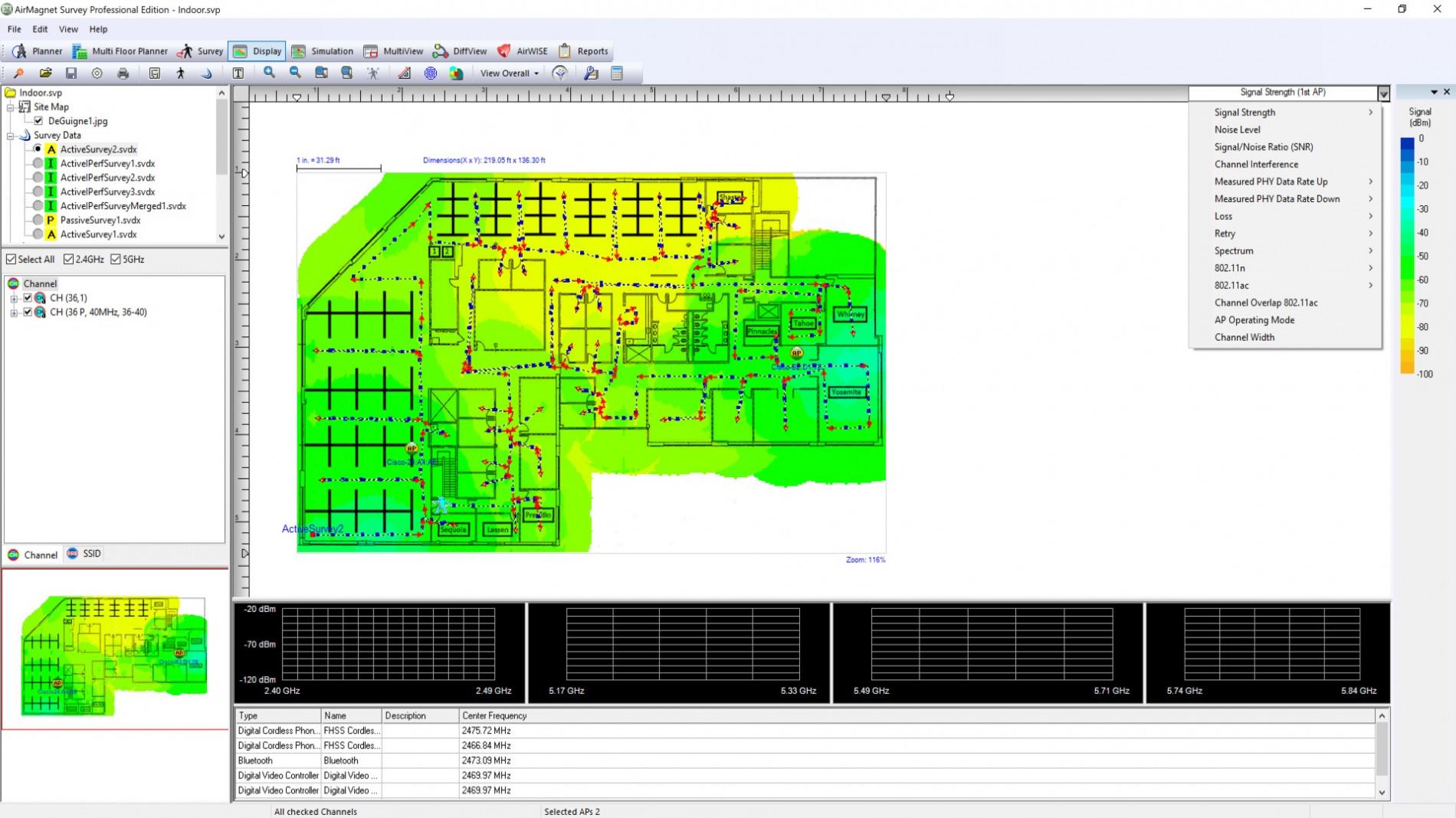 Обследование сетей 802.11 - AirMagnet