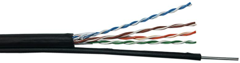 Уличный кабель витая пара с тросом